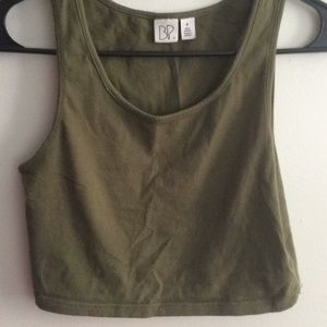 Olive Green Crop Top Size M